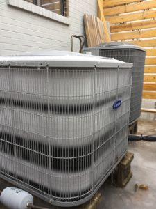 Normal Heat Pump Frosted Coils before Defrost Cycle